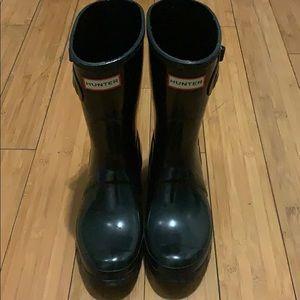 Black Hunter Rain Boots (Medium height)